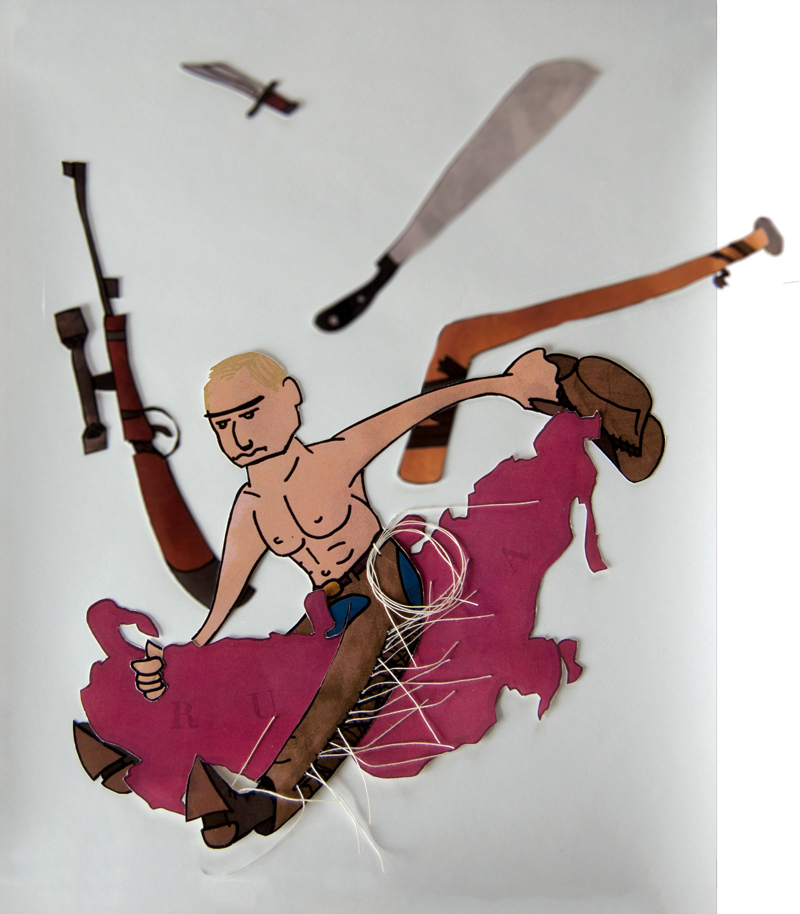 Putin illustration detail